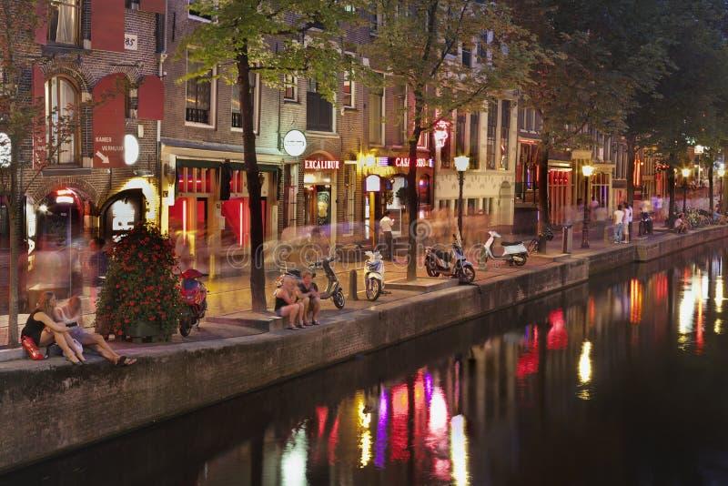 Secteur de lumière rouge à Amsterdam photographie stock libre de droits