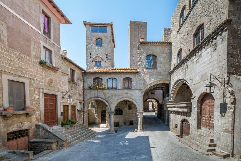 Secteur de Pellegrino de saint à Viterbe, Latium Italie photographie stock libre de droits
