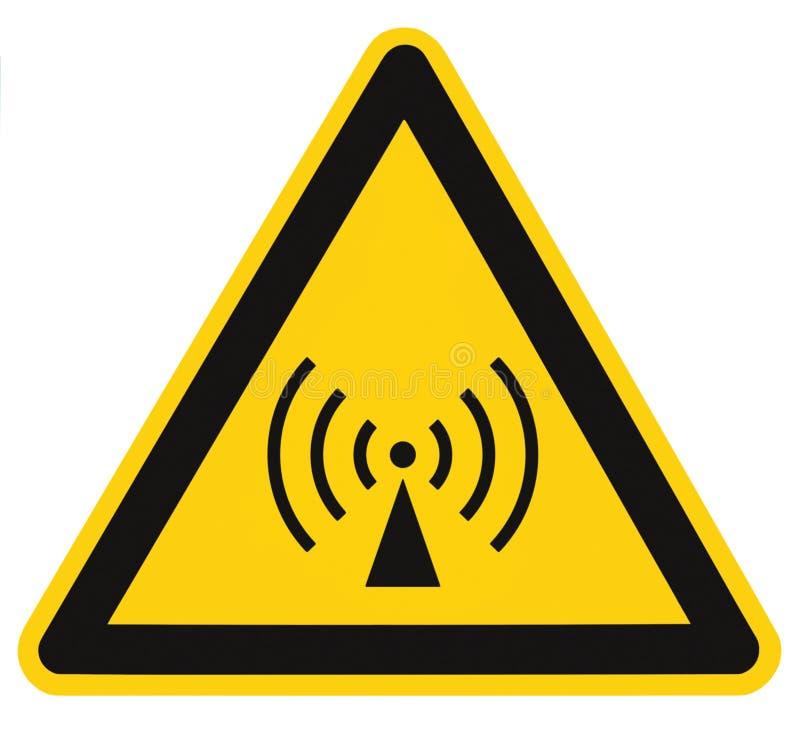 Secteur de sécurité non ionisant de risque d'irradiation, label d'autocollant de panneau d'avertissement de danger, grand signage photos stock