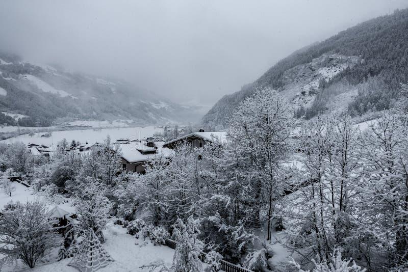 secteur de ski avec le temps fantastique photographie stock