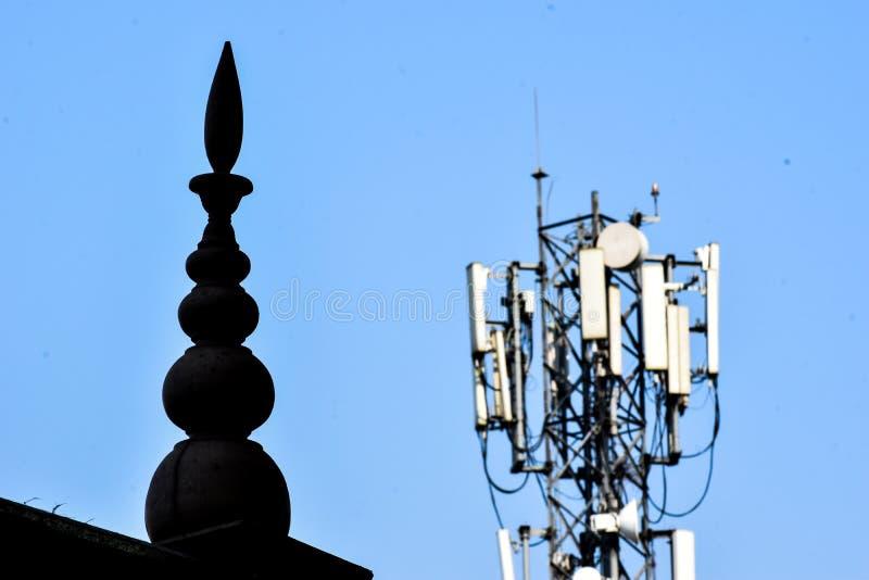 Secteur de télécommunications dans l'Inde image libre de droits