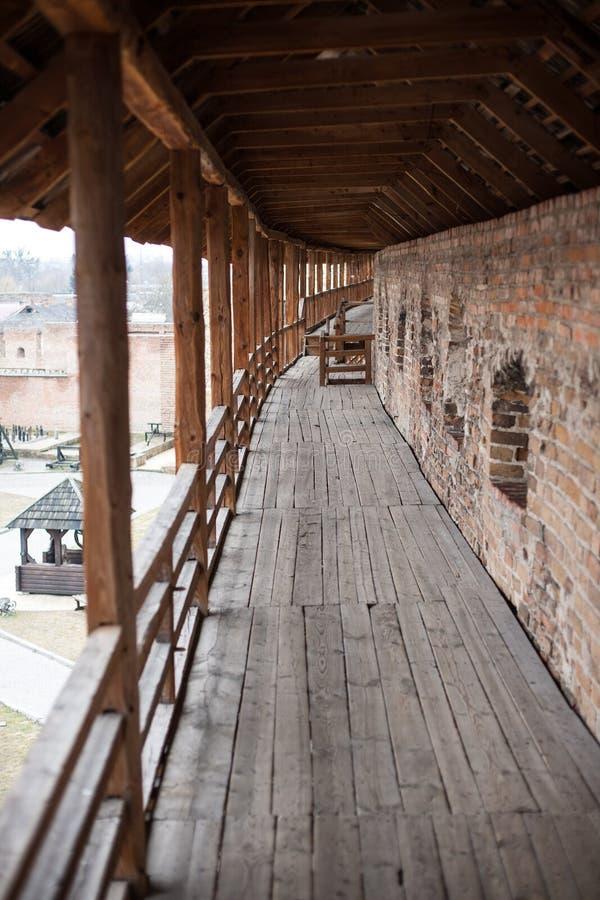 Secteur de vieux château de Lubart dans Lutsk Ukraine images libres de droits