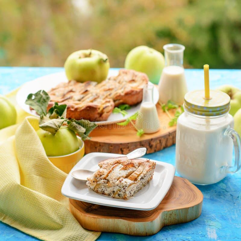 Secteur et lait d'Apple photos libres de droits