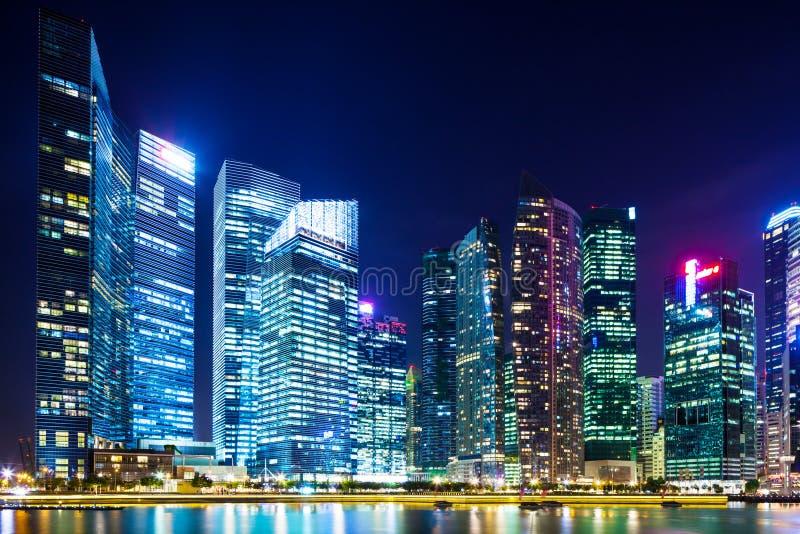 Secteur financier à Singapour images libres de droits