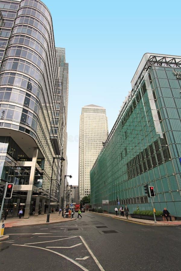 Secteur financier de Canary Wharf Londres photographie stock