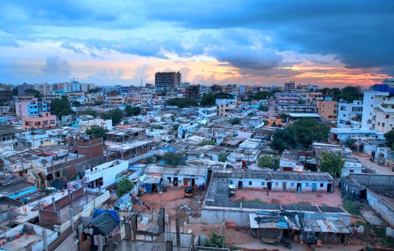 Secteur financier de Hyderabad images stock
