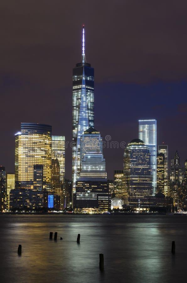 Secteur financier de Manhattan et Hudson River photo stock