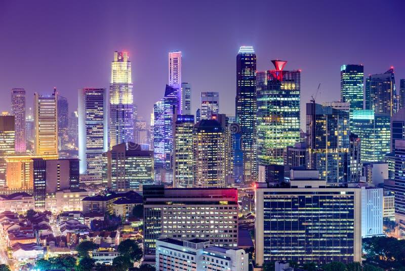 Secteur financier de Singapour photos stock