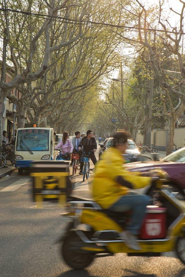 Secteur français Changhaï Chine de concession photo stock