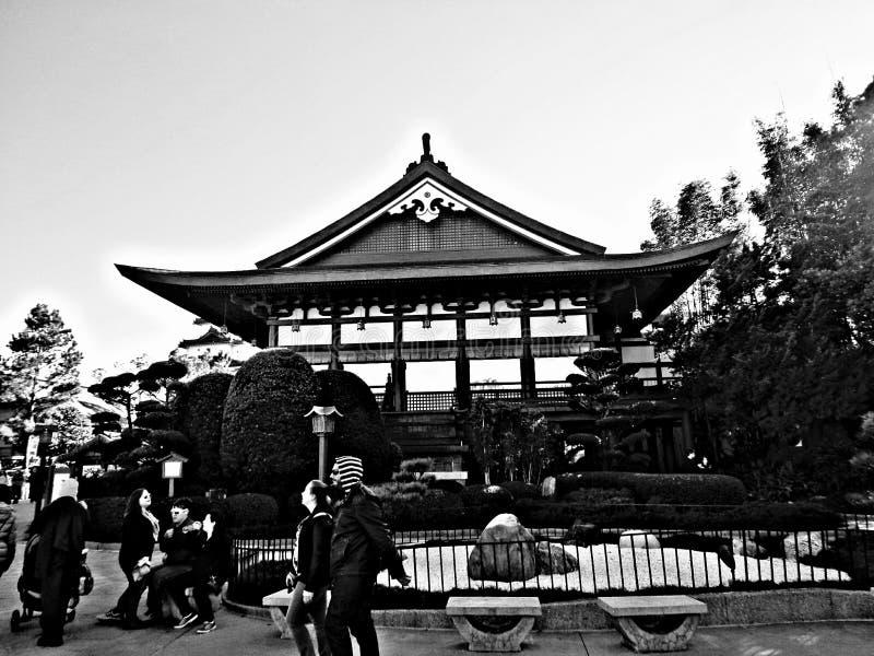 Secteur japonais ou jardin japonais image libre de droits