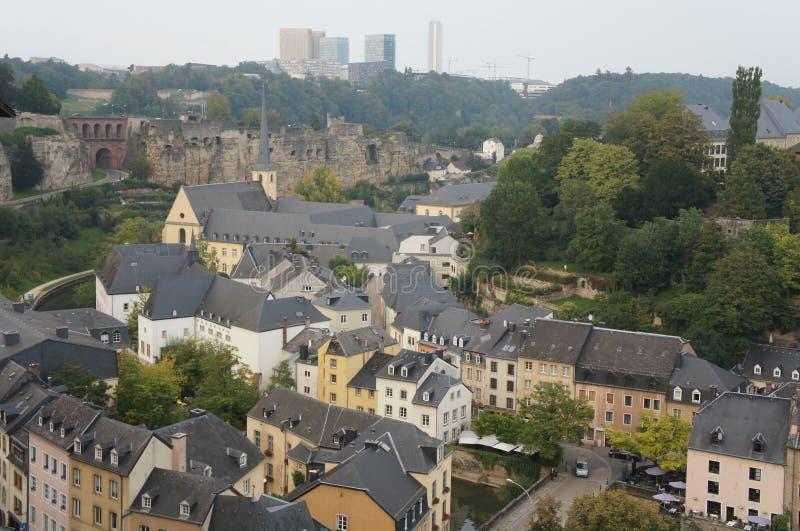 Secteur médiéval de Grund de la ville du Luxembourg image stock