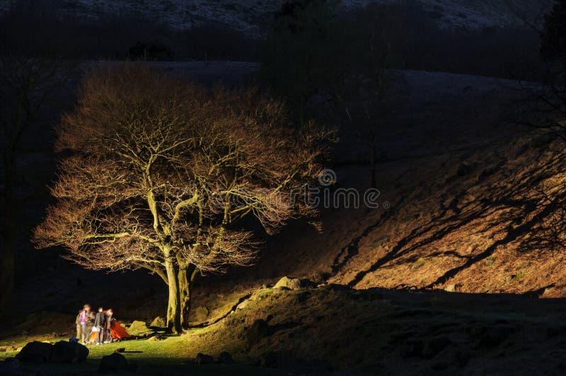 Secteur maximal Angleterre de camping photographie stock libre de droits
