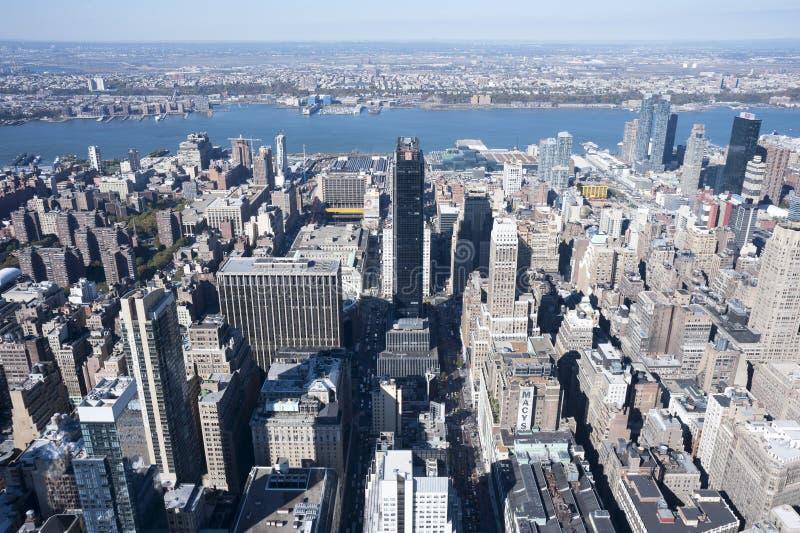 Secteur New York City de vêtement d'horizon de Manhattan image stock