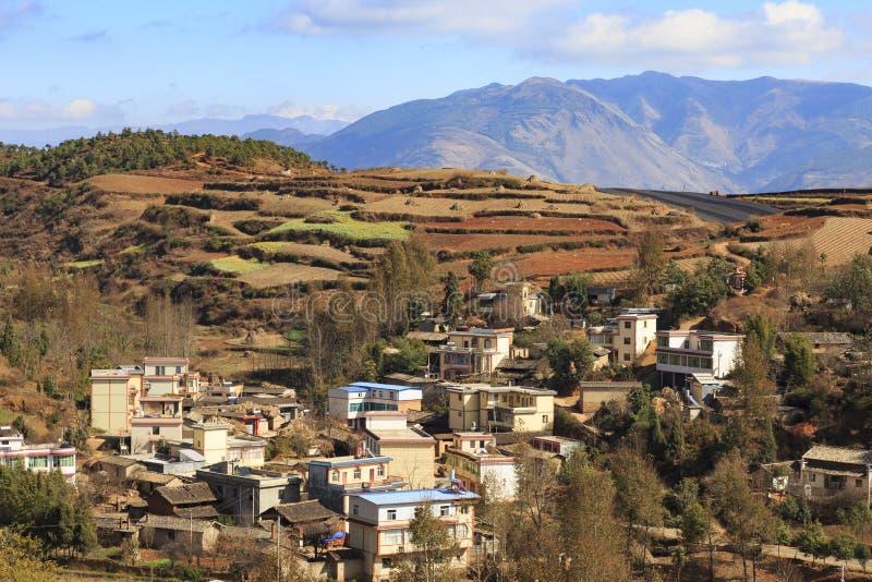 Secteur rouge de la terre dans Yunnan photos stock