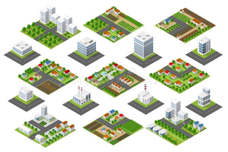 Secteur urbain réglé illustration stock
