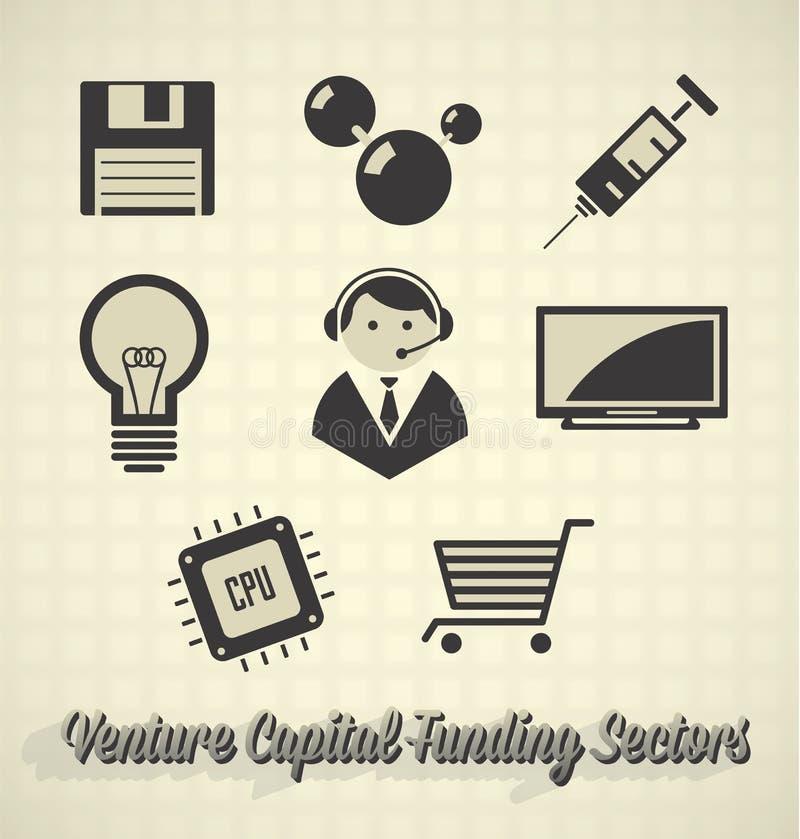Secteurs de placement de capital-risque illustration stock