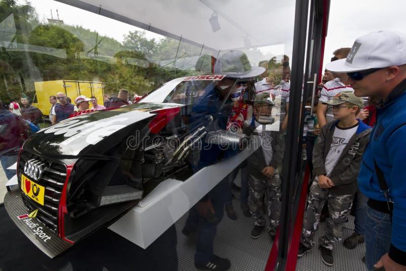 Sectie over een Audi Sport-auto stock foto's