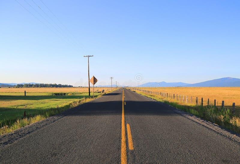 Sectie van de toneelweg van Oregon stock afbeelding