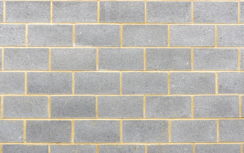 Section of breeze block wall background royalty free stock image
