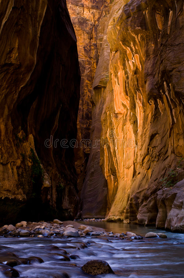 Download Section Of Canyon Known As Wall Street, Taking During The Narrow Stock Image - Image: 33625071