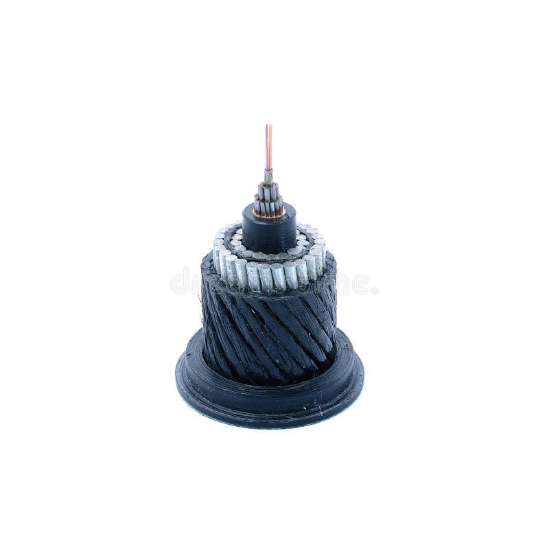 Section de fibre optique submersible image stock