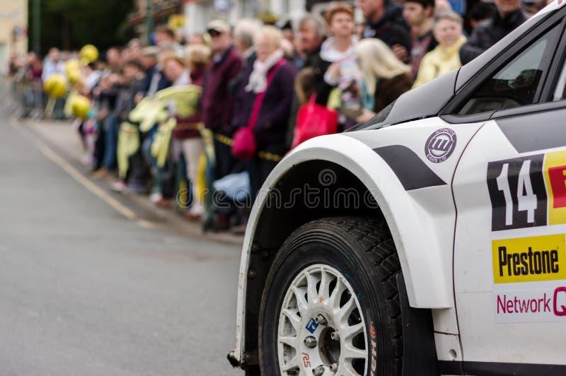 Section de Ford Fiesta Rally Car photos libres de droits