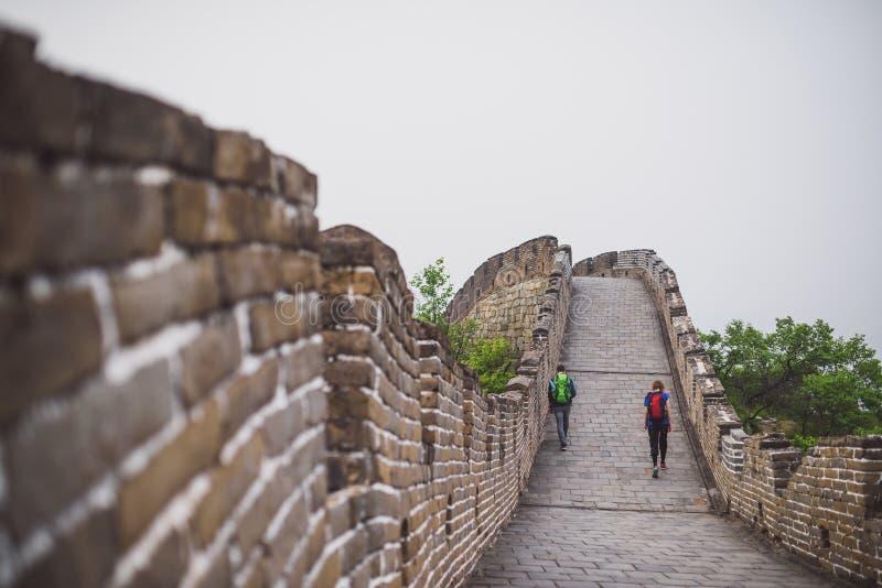 Section de Mutianyu de Grande Muraille de la Chine photographie stock