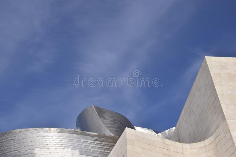 A section of the Guggenheim stand out the sky. Bilbao, Spain stock image