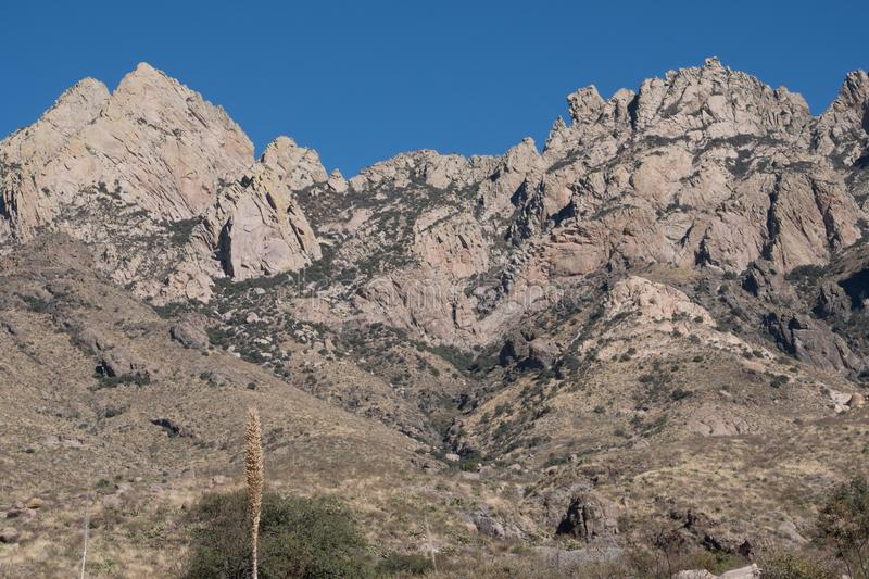 The jagged peaks of the Organ Mountains. royalty free stock photography