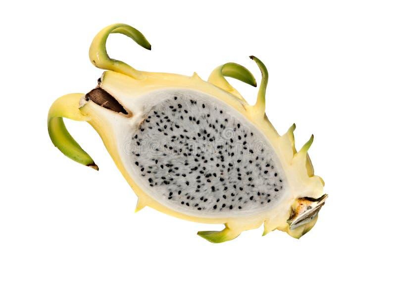 Section jaune de fruit de dragon photo stock
