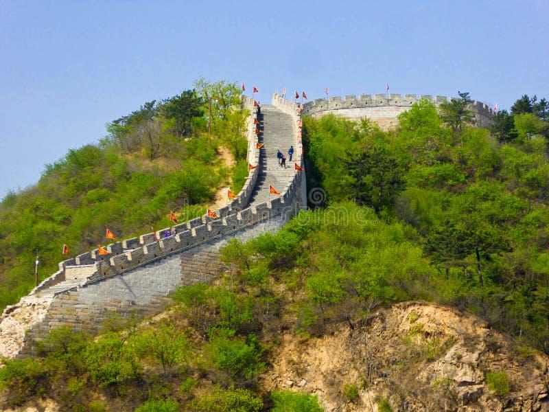 Section murale de Grande Muraille de Huanghuacheng Lakeside image libre de droits