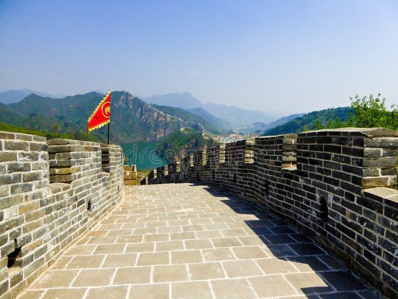 Section murale de Grande Muraille de Huanghuacheng Lakeside photo libre de droits