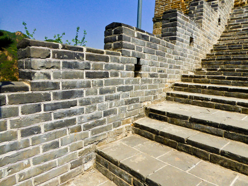 Section murale de Grande Muraille de Huanghuacheng Lakeside photo stock
