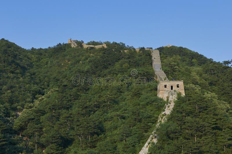 Section non restaurée de la Grande Muraille de la Chine, Zhuangdaokou, Pékin, Chine images stock
