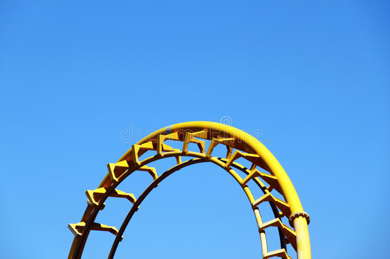 Section of Roller Coaster royalty free stock photo