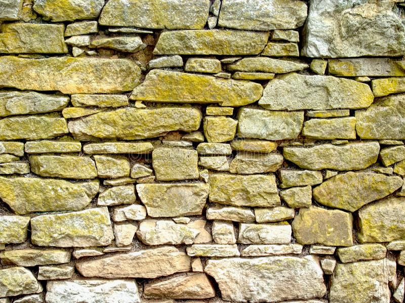A section of a stone wall stock photography