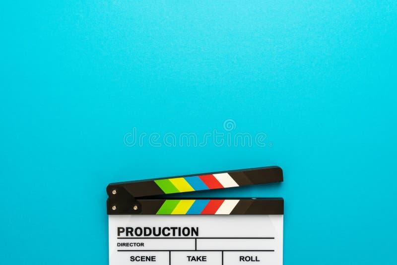 Section supérieure de claquette en bas de fond de bleu de turquoise photos stock