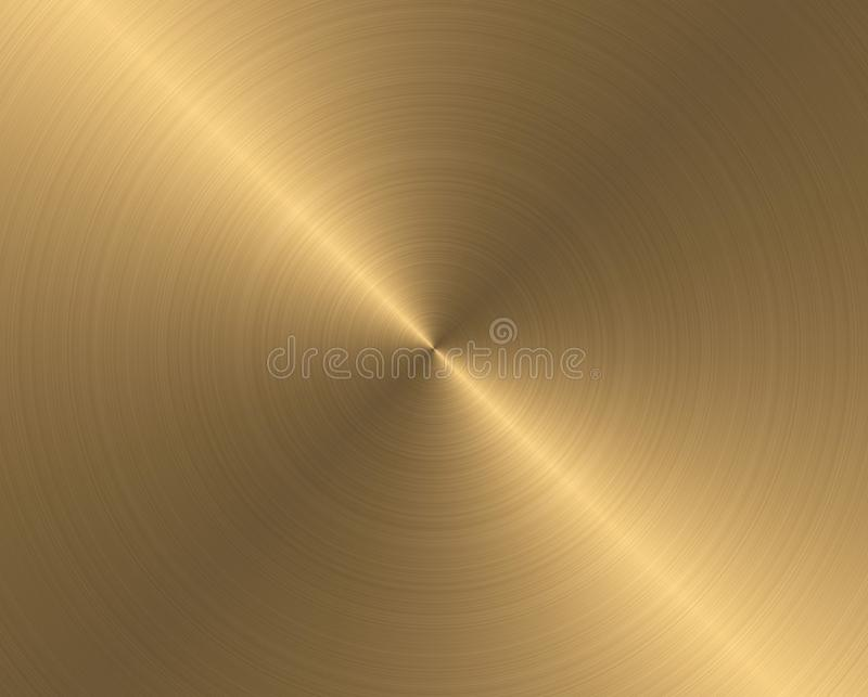 Section surface of round brass stock photo