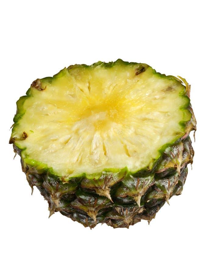 Section transversale d'un ananas image stock