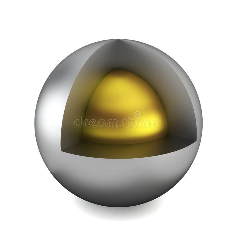 Section transversale de sphère illustration de vecteur