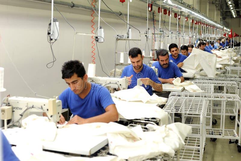 Sector de la materia textil de Turquía foto de archivo libre de regalías