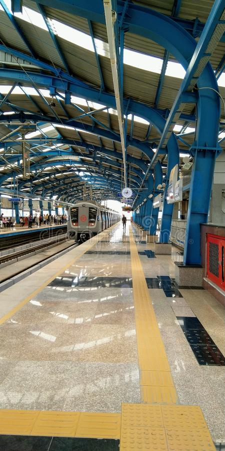 Sector 59 Metro Station Noida India. This is Noida Sector 59 Metro Station India. This is good place for travelling stock images