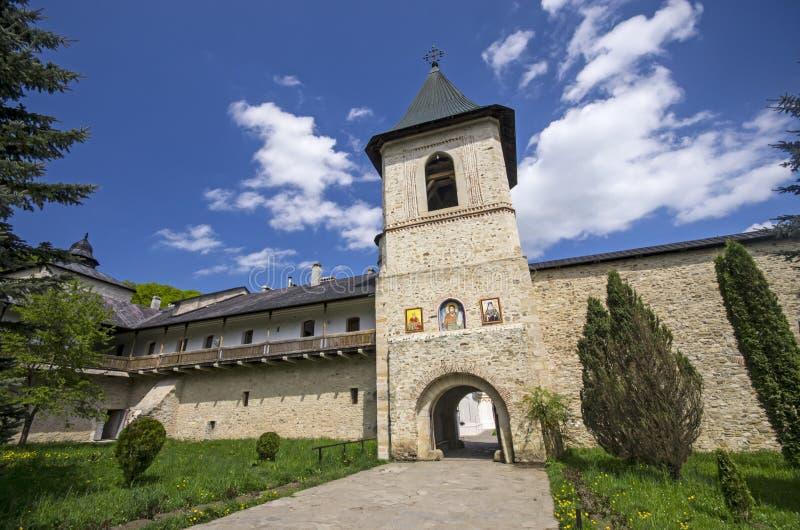 Secu monasteru otaczające ściany obrazy stock