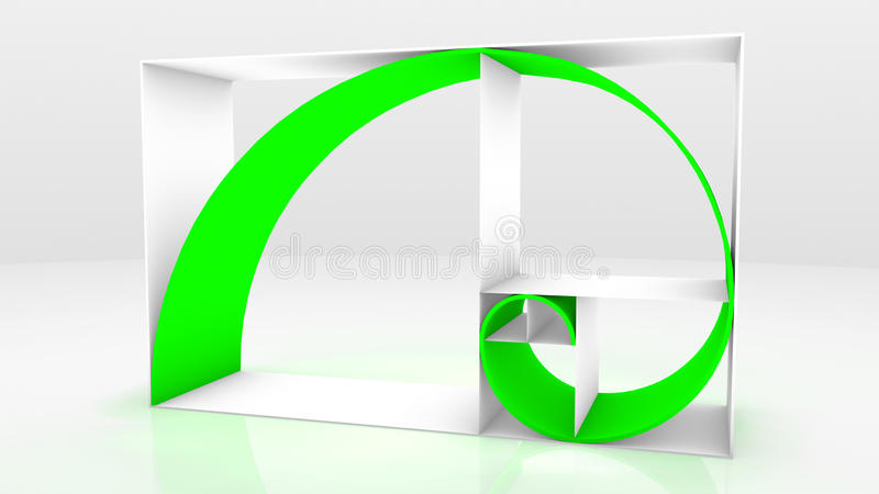 Secuencia 3D de Fibonacci libre illustration