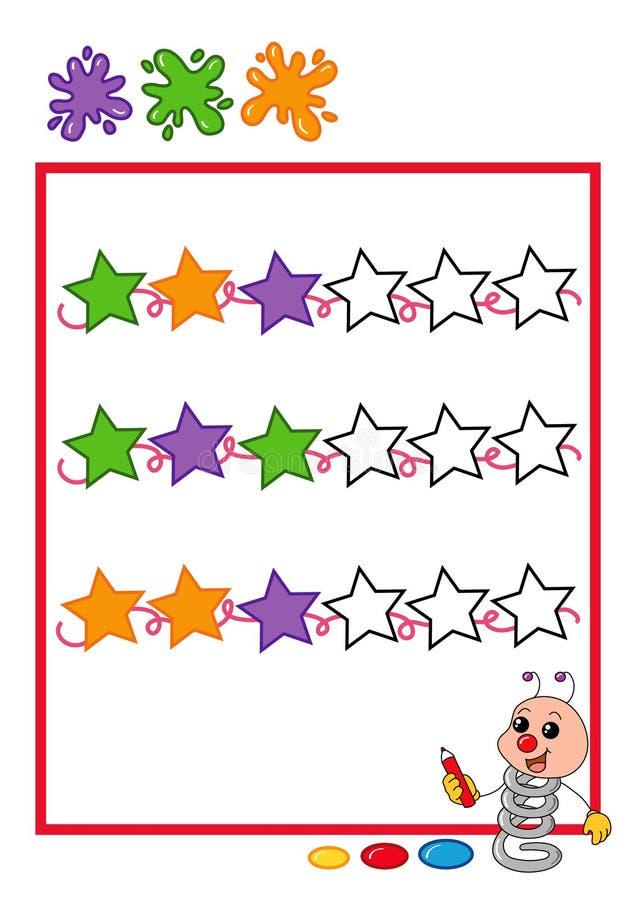 Secuencia coloreada, estrellas foto de archivo