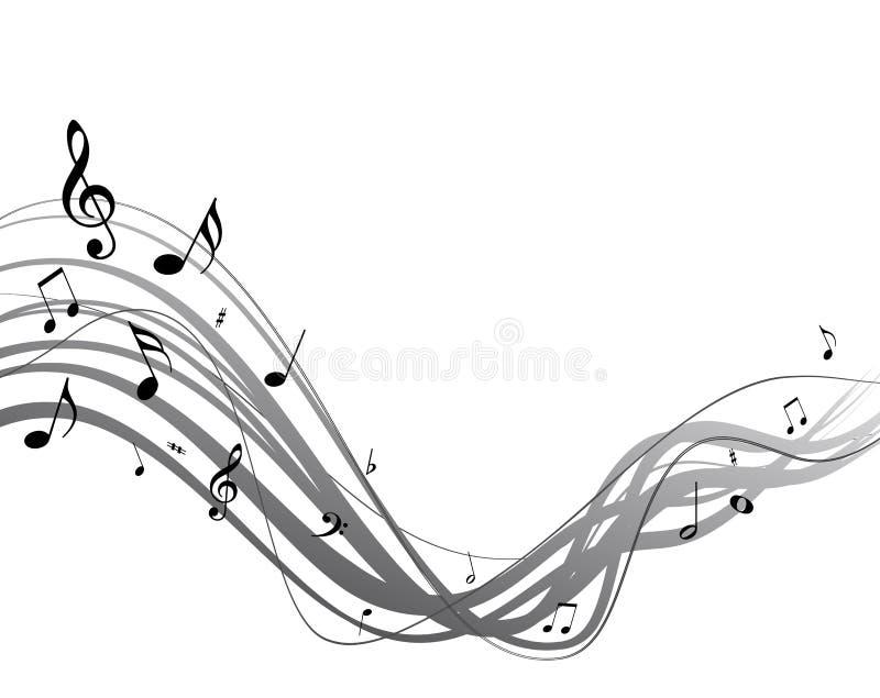 Secuencia de la música del vector ilustración del vector