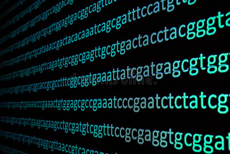 Secuencia del genoma imágenes de archivo libres de regalías