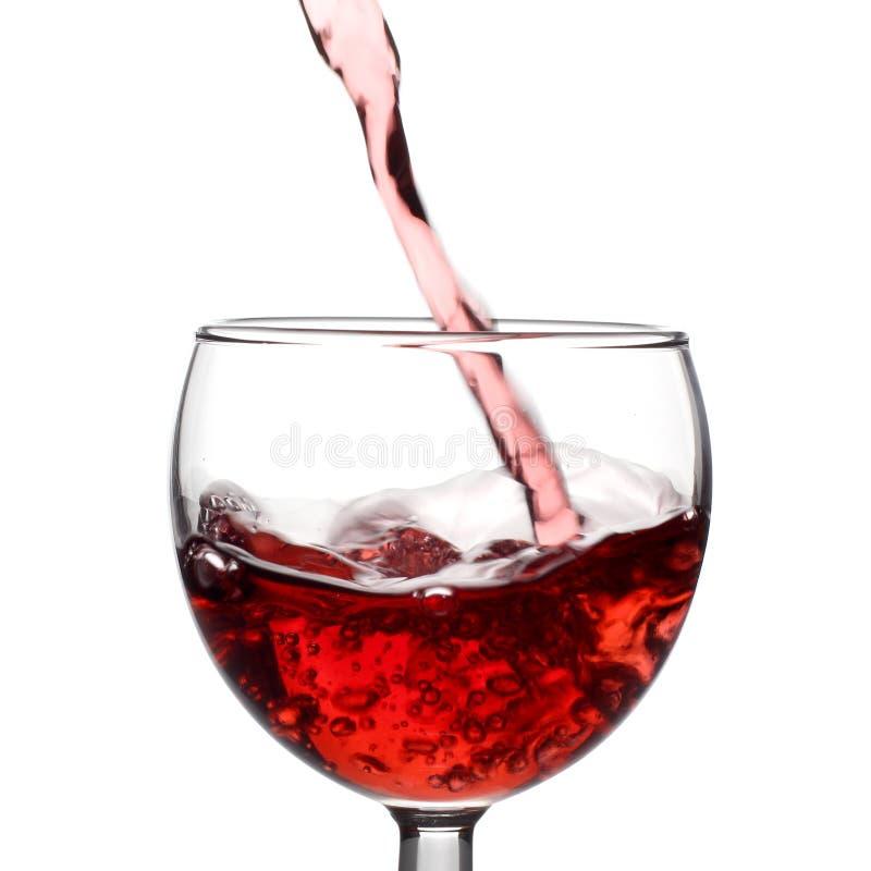 Corriente Del Vino Rojo Foto De Archivo