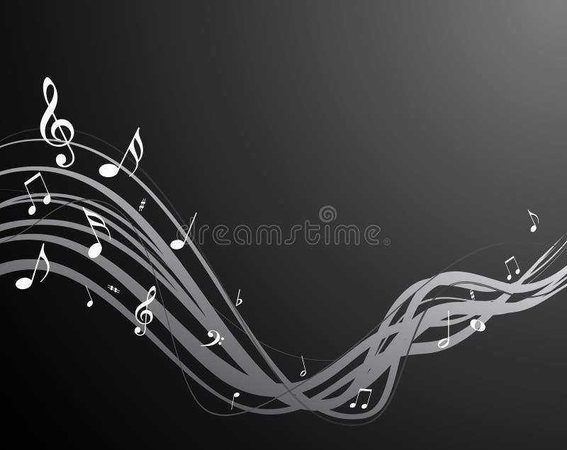 Secuencia negra de la música ilustración del vector