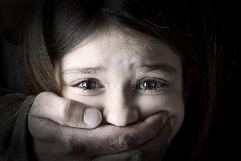 Secuestro de niños imagenes de archivo